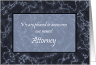 New Attorney Announcement Marble Card