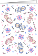 It's Raining Babies Baby Gift for Baby or Shower card