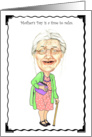 Mother's Day Humor Card Granny Bobblehead Humor Birthday Card