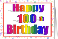 100 Years Old Rainbow Birthday Card