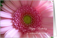 Friend Birthday Pink Flower card