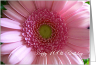 100 Years Old Birthday Pink Flower card
