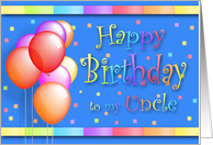 Uncle Balloons Happy Birthday Fun card