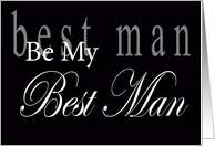 Be My Best Man Lettering card