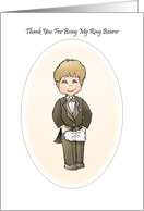 Thank You Ring Bearer Wedding Attendant Thank You Card