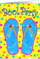 Pool Party Invitations card
