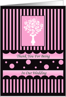 Thank You Cards Wedding Attendants card