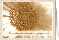 Engagement Announcements Sepia Antique Flower card