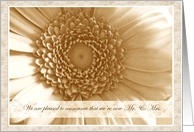 Wedding Announcements Sepia Antique Flower card