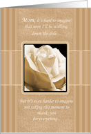 Mom Elegant Rose Thank You Card Before Wedding card