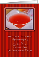 Pre-Wedding Cocktail Party Invitations card