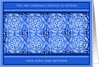 Decorative Son's Bar Mitzvah Invitations Cards