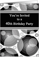 Break Out The Bubbly 40th Birthday Party Invitation card