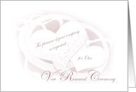 Vow Renewel Ceremony Invitations Cards