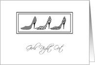 Fun Shoes Girls Night Out Invitations card