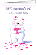 Big Bear Hugs For Aunt On Valentine's Day Greeting Cards