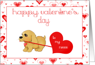 Little Puppy Dog Niece Valentines Day Love Card Greeting cards