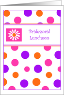 Polka Dots & Daisies Bridesmaid Luncheon Invitations Greeting cards
