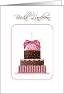 Stacked Cake Bridal Luncheon Invitations Paper Greeting Cards