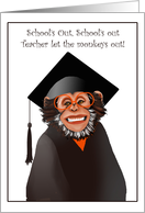 Graduation Announcements Smiling Monkey Humor Paper Greeting Cards