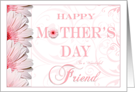 Pink Floral Fantasy Friend Happy Mothers Day Cards Paper Greeting Cards
