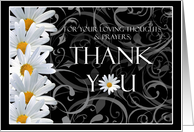 Daisy Floral Bereavement Thank You Cards Paper Greeting Cards