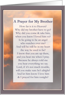 A Prayer for My Brother Sympathy Cards Paper Greeting Cards