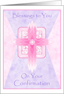 Tears of Heaven Congratulations on Your Confirmation Paper Greeting Cards