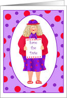 Lady in Hat Save the Date Invitations Paper Greeting Cards