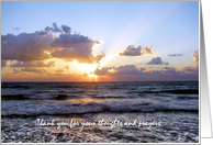 Sunset on Waves Thank You Bereavement Cards