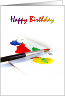 Artist Painting Themed Birthday Cards Paper Greeting Cards