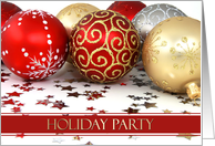 Holiday Party Invitations Cards Ornaments Paper Greeting Cards