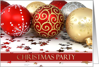 Christmas Party Invitations Cards Ornaments Paper Greeting Cards