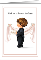 Ring Bearer Wedding Attendant Thank You Cards Paper Greeting Cards