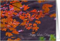 Autumn Joys Labor Day Paper Greeting Cards