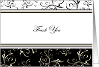Classic Deco Blank Thank You Cards Business or Personal Use Paper Greeting Cards