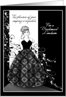 New Bridesmaid Luncheon Invitations Black and White Formal Cards