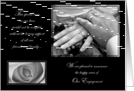 Elegant Engagement Announcements Classic Black and White Day Cards