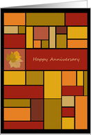 Colors of Fall Business Company Anniversary Cards