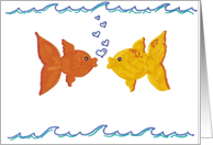 Kissing Fish card