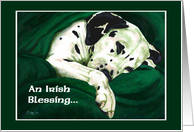 Happy St. Patrick's Day - Irish Blessing Green Dog card