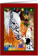 Christmas from Veterinarian ~ Dog Cat Horse card