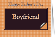 Father's Day Boyfriend - Brown Check card