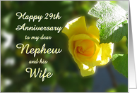 29th Wedding Anniversary Gift For Husband : Happy 29th Anniversary to Nephew and his Wife - Yellow Rose Sunshine ...