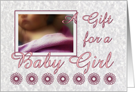 Shower Gift for a Baby Girl - Infant with Pink Blanket card