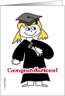 Graduation - Girl card