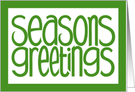 Seasons Greetings Green card