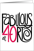 Fabulous at 40! card