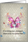 12 step addiction recovery encouragement card if nothing ever changed card