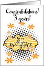 Go with your groovy Self, congratulations 3 years clean card